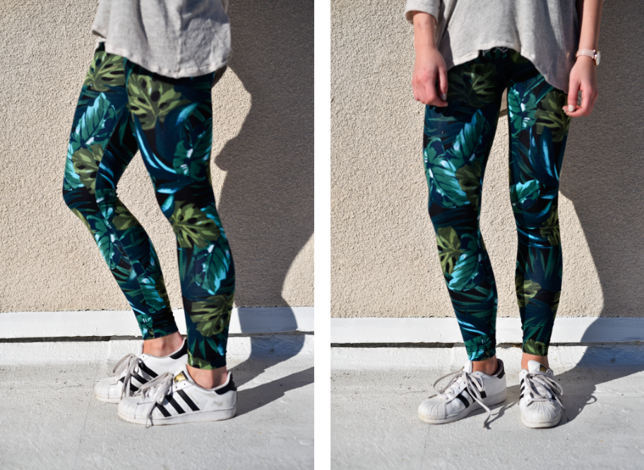 Jennie from the Blog jungle print leggings 1